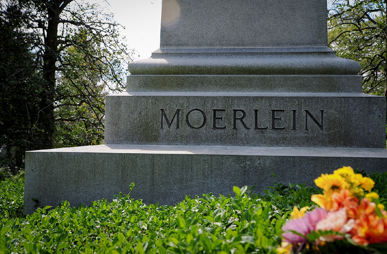 The monument of the Moerlein family (of Christian Moerlein Brewing Company fame) / Image: Melissa Doss Sliney
