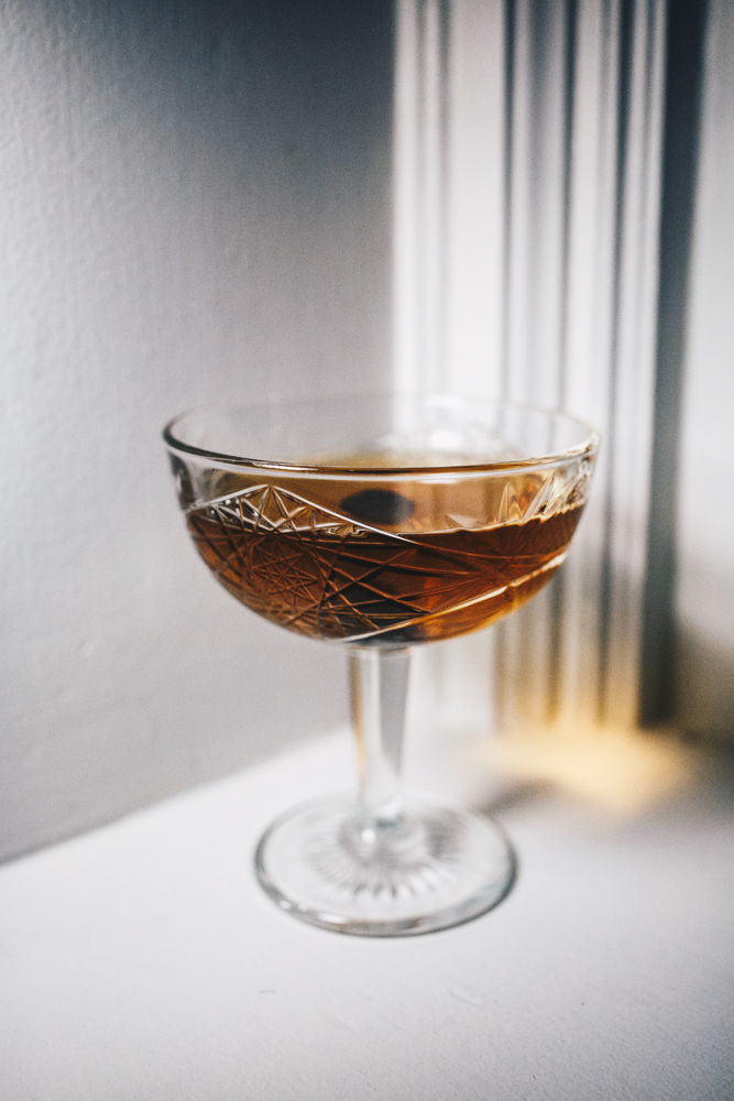 Spicy Mama: Amador Whiskey, serrano pepper infused Dolin's Sweet Vermouth, Dolin's Dry Vermouth, and angostura bitters / Image: Catherine Viox // Published: 3.5.19