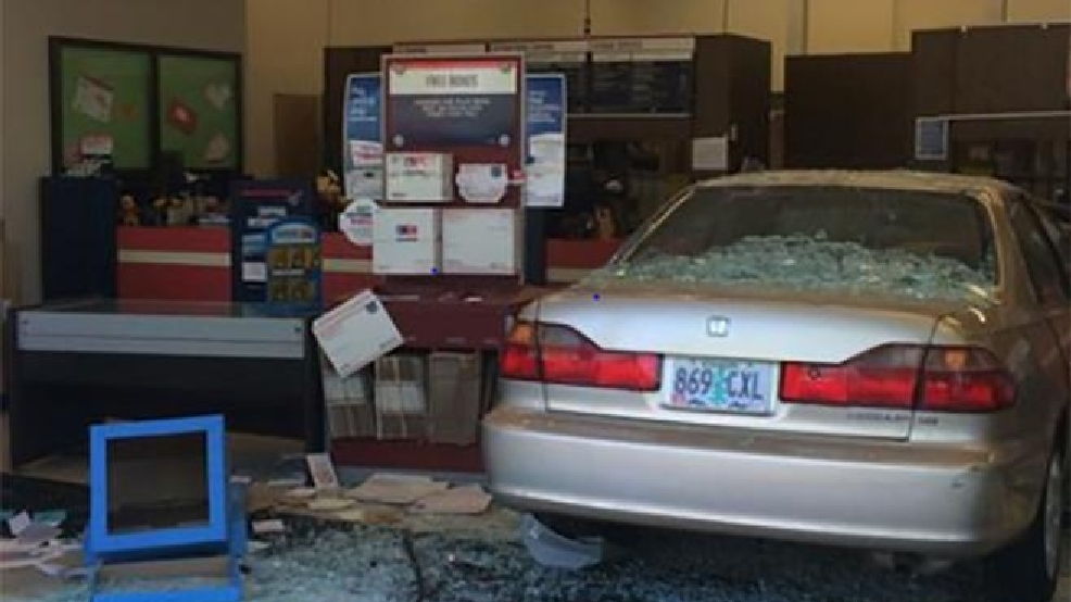 Driver Barrels Into Tigard Post Office, 76 Year Old Woman Injured