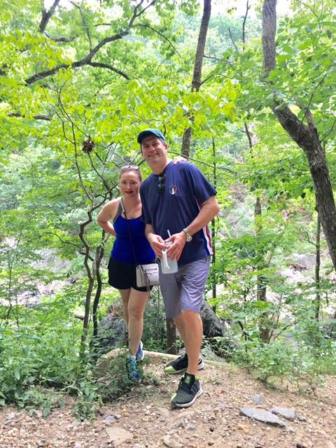 Following an intense back surgery that took place in early July, Chef Chemel bounced back quickly and kicked off his summer fun with a family-friendly hiking trip to Great Falls, Virginia with his wife and two young daughters. (Image: Courtesy Bertrand Chemel)