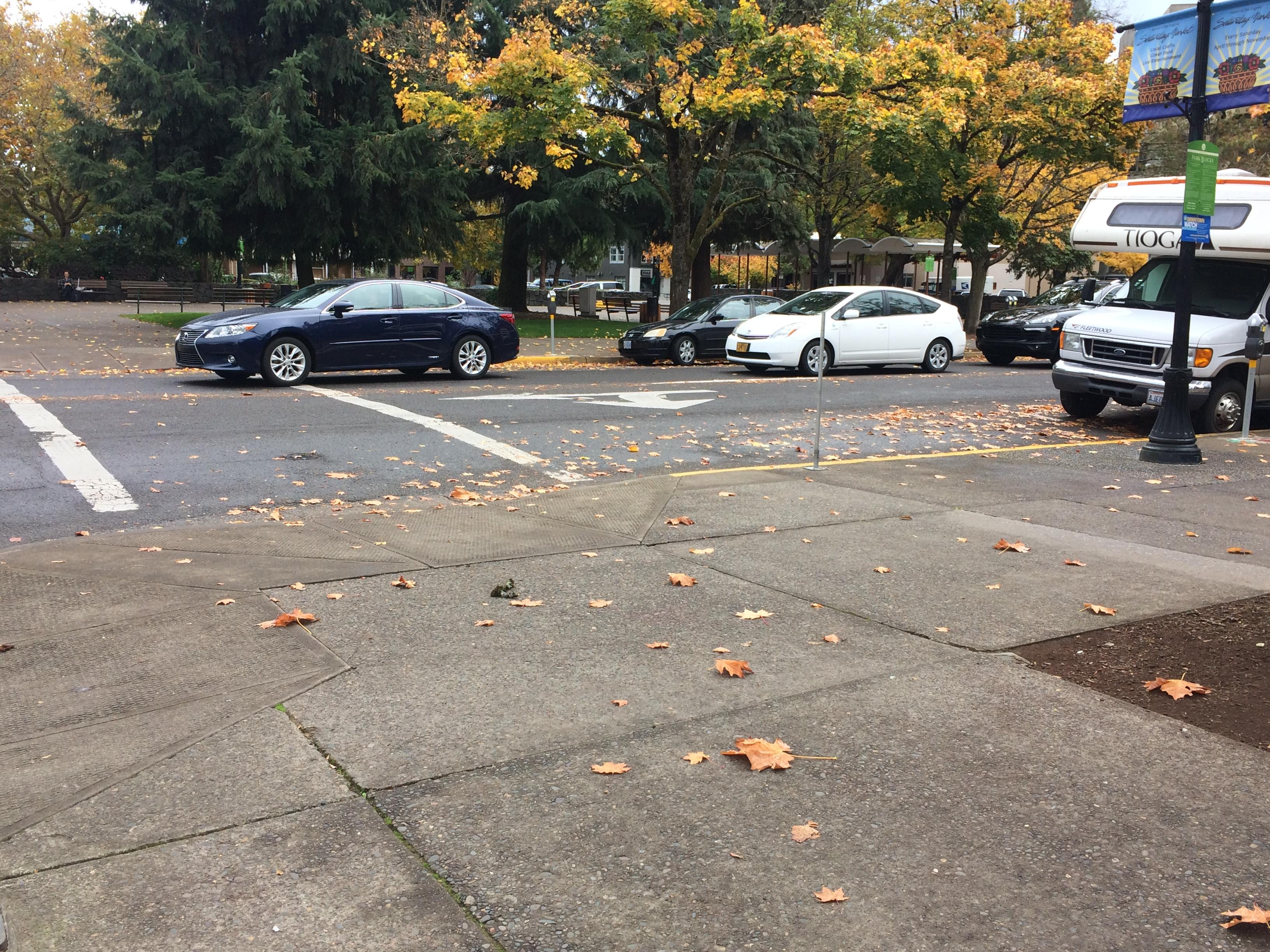 Eugene has more than 500 miles of streets. Per the city's evaluations, 21 percent of them are damaged, Nov. 2, 2017. (SBG)