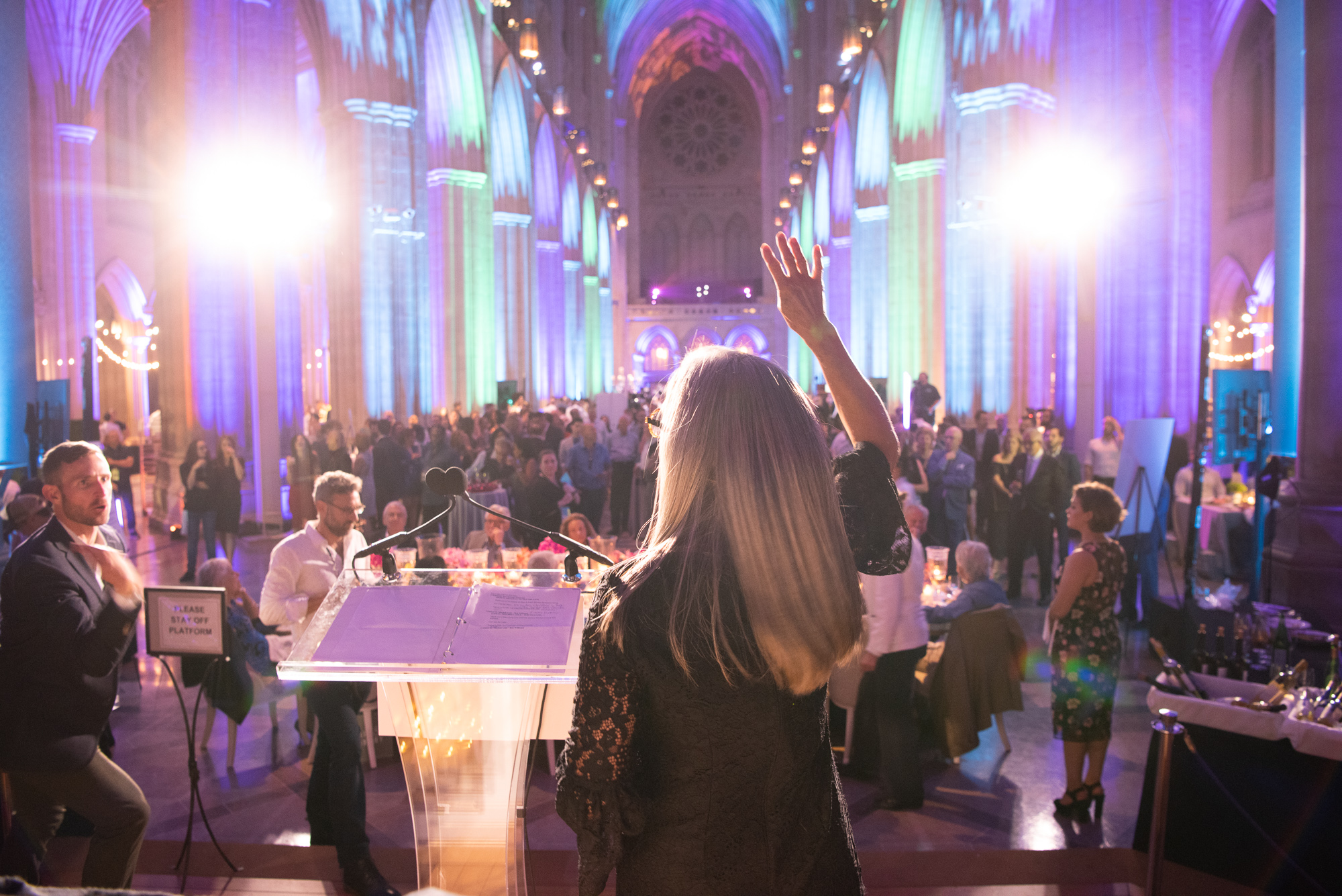 Anyone who attended the Human Rights Campaign's 7th annual Chefs for Equality gala on October 9 and left hungry did something wrong! The Washington National Cathedral was awash in rainbow as it played host to hundreds of Washingtonians eager to show their support for the HRC Foundation and their mission of fighting for full LGBTQ equality. And show their support they did, as the event raised{&amp;nbsp;} more than$300,000 for the foundation, through ticket sales, a silent auction and a live auction led by auctioneer April Brown. More than 120 of the DMV's top chefs and mixologists were on hand to do the &quot;deliciously defiant&quot; theme proud, serving up small bites (like foie gras macaroons and dan dan noodles in mini carryout containers) and cocktails to guests. The luckiest guests dined at private tables,{&amp;nbsp;}where celebrity chefs created lavish five-course paired meals. Back by popular demand, the &quot;5/10/15 Speed Diner&quot; ticket option allowed guests to purchase a seat at the intimate diner-style counters where they were treated to a specialty cocktail and a mini five-course tasting menu prepared by five pairs of renowned chefs. If you missed the fun, scroll through our photo gallery to get an insider's look! (Image:{&amp;nbsp;}Jeff Martin for Human Rights Campaign)<br>