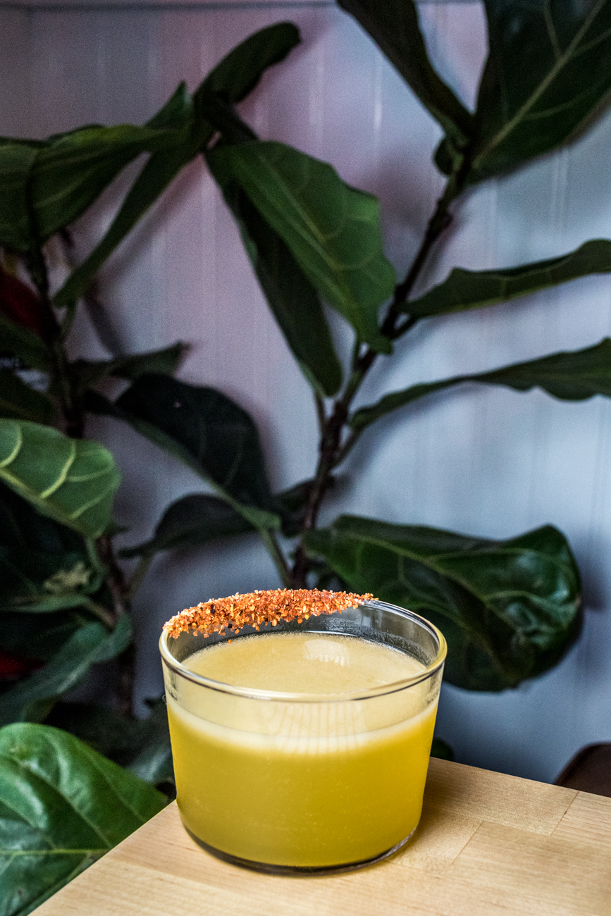 Tacocat: mezcal, mango puree, agave, triple sec, house sour mix, and Tajin / Image: Catherine Viox{ }// Published: 7.3.20