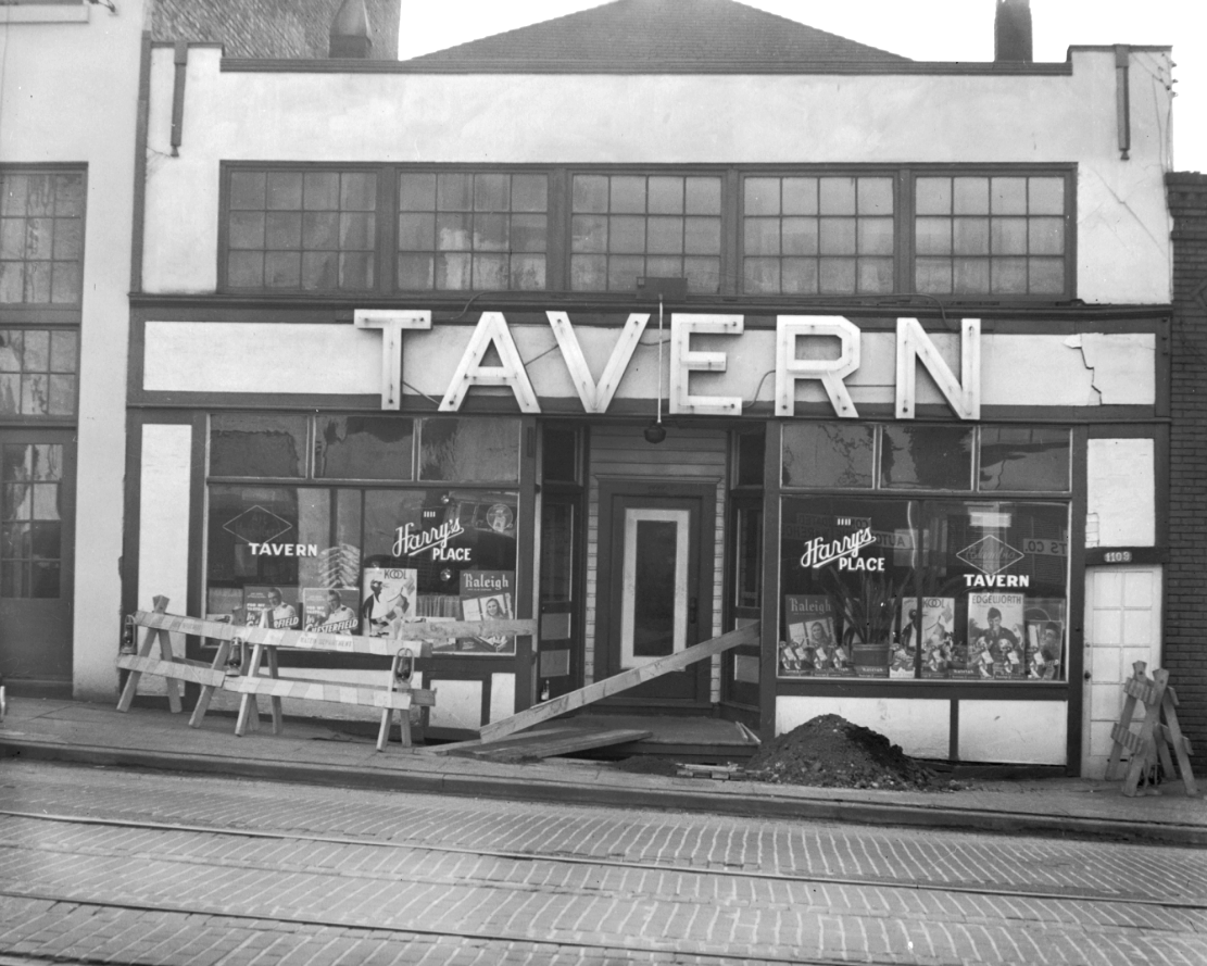 This bar was Located at 1109-1111 E Pike. Another building that has fallen to down to condos! (Image: Seattle Municipal Archives / flickr)