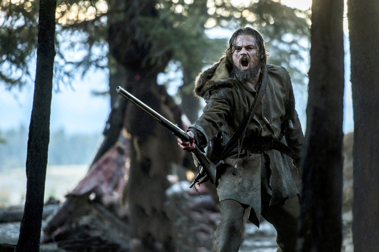 "This photo released by Twentieth Century Fox shows shows Leonardo DiCaprio wearing a costume designed by Jacqueline West in a scene from the film, ""The Revenant."" West is nominated for costume design for her work on the film, ""The Revenant."" The 88th Academy Awards will be held on Sunday, Feb. 28. (Twentieth Century Fox via AP)"