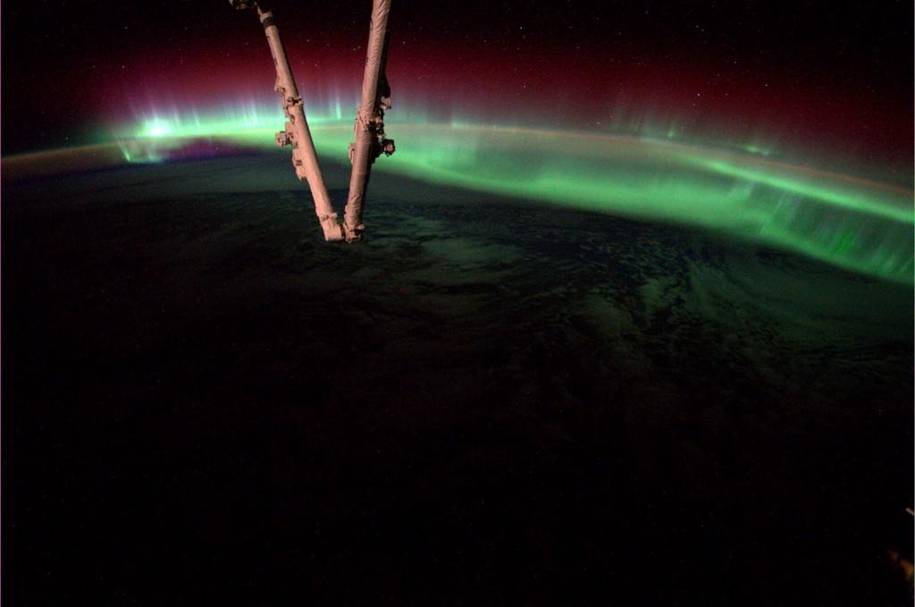 Aurora as seen from the ISS on Aug. 19, 2014. (Photo: Reid Wiseman, NASA)