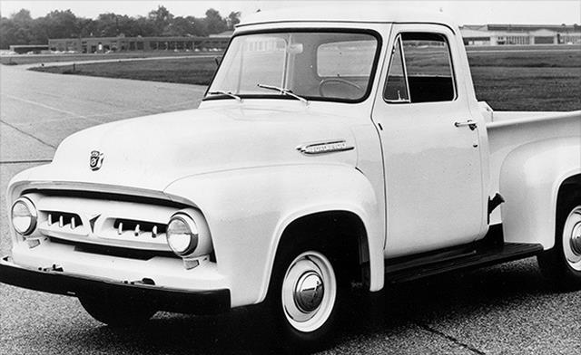 This is when Ford went to triple digits. The trucks were named F-100, F-250 and F-350.