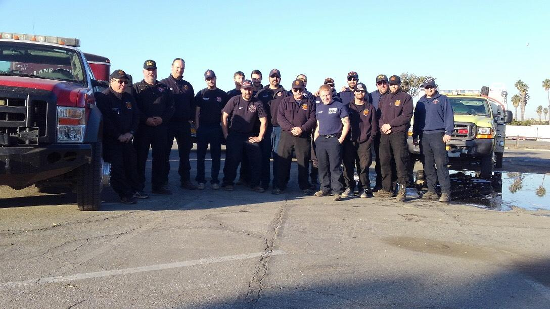 Lane County firefighters are bringing back unforgettable memories after a grueling 15-day trip fighting fires in Southern California. (Chad Minter)<p></p>