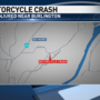 Morning motorcycle crash lands two in the hospital
