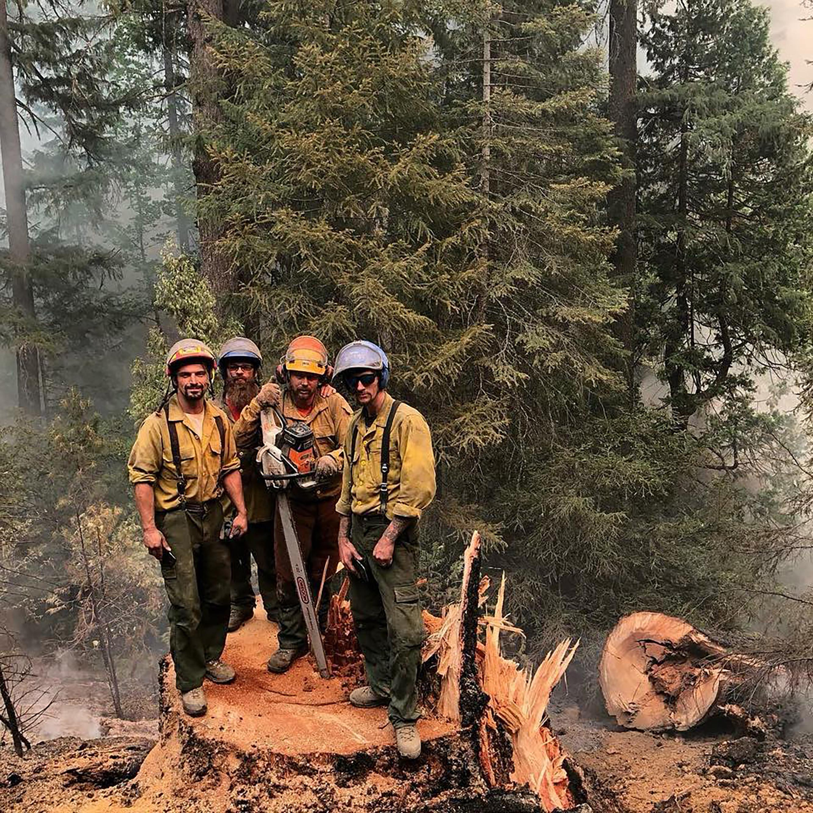 Travis Barney, William Marriott, Phillip Wolters, all of Glendale, and Kyle Robbins, North Carolina. Carr fire