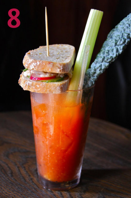 #8 - At Crazy Fox Saloon in Newport, the Bloody Mary is a full-on meal. / Image: Molly Paz