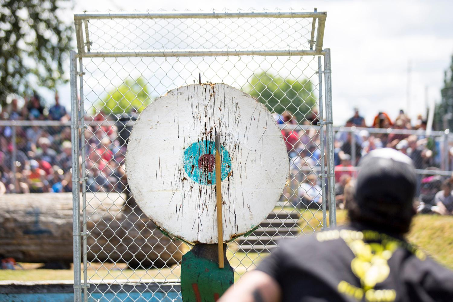 The 45th Annual Buckley Log Show took place over the weekend of June 23rd and 24th, with over 70 loggers competing in log bucking, log climb, axe throwing, and more! The entire community got together around this long standing tradition, and it was certainly a site to see. (Image: Sy Bean / Seattle Refined)
