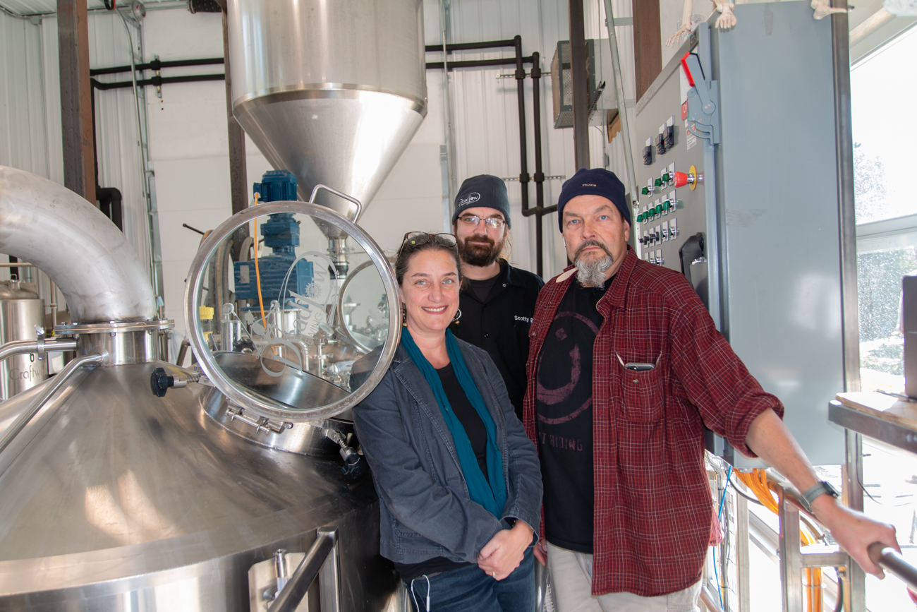 Co-founder Christine Hall, Head Chef Scotty Berens, and Brew Master Greg Snow{ }/ Image: Elizabeth Lowry // Published: 11.5.19