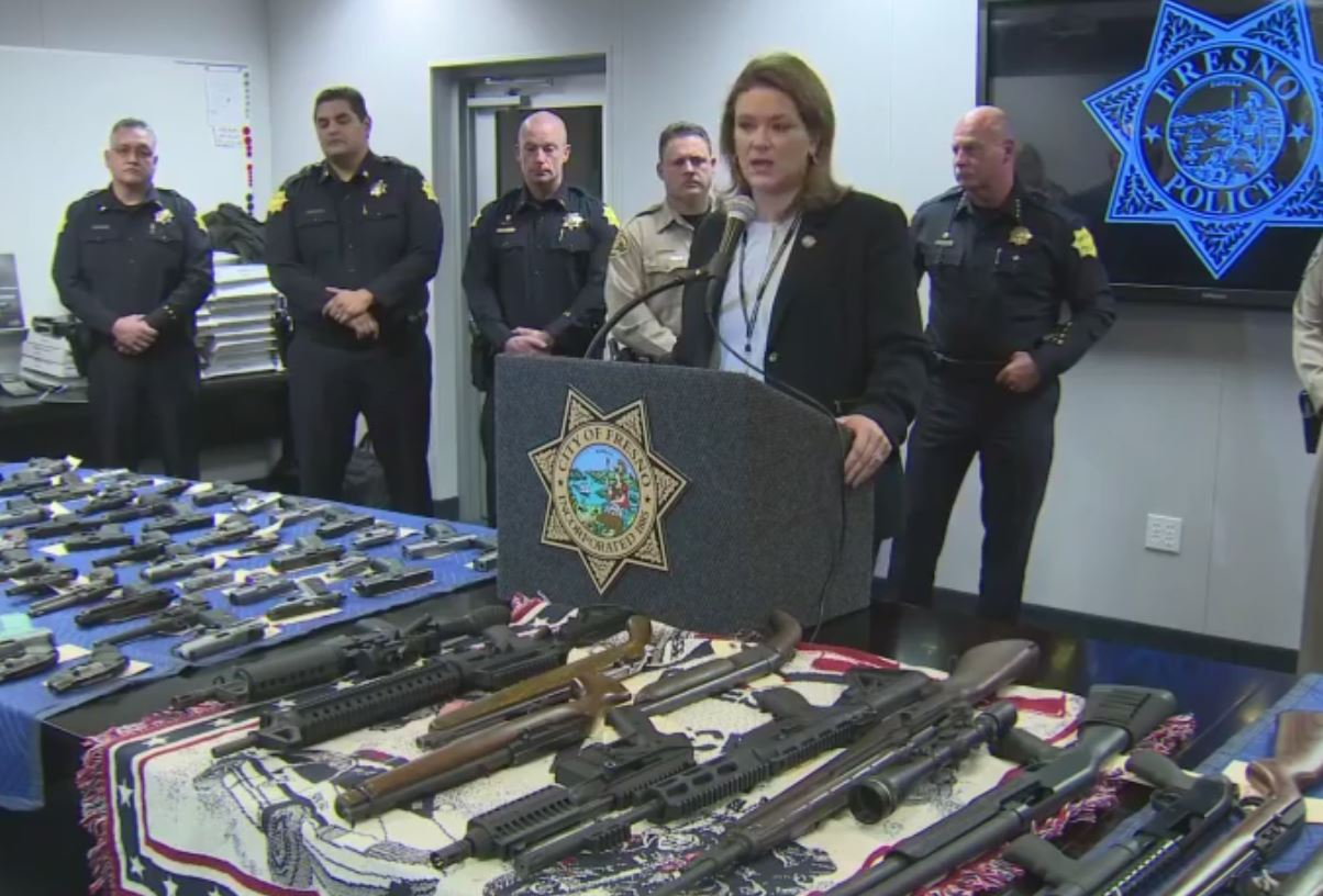 Fresno County District Attorney, Lisa Smittcamp talking about the gang and drug operation
