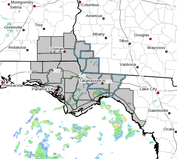 A Tropical Storm Watch has been expanded eastward and inland to include Decatur, Early and Miller County in Southwest Georgia Saturday. / NWS