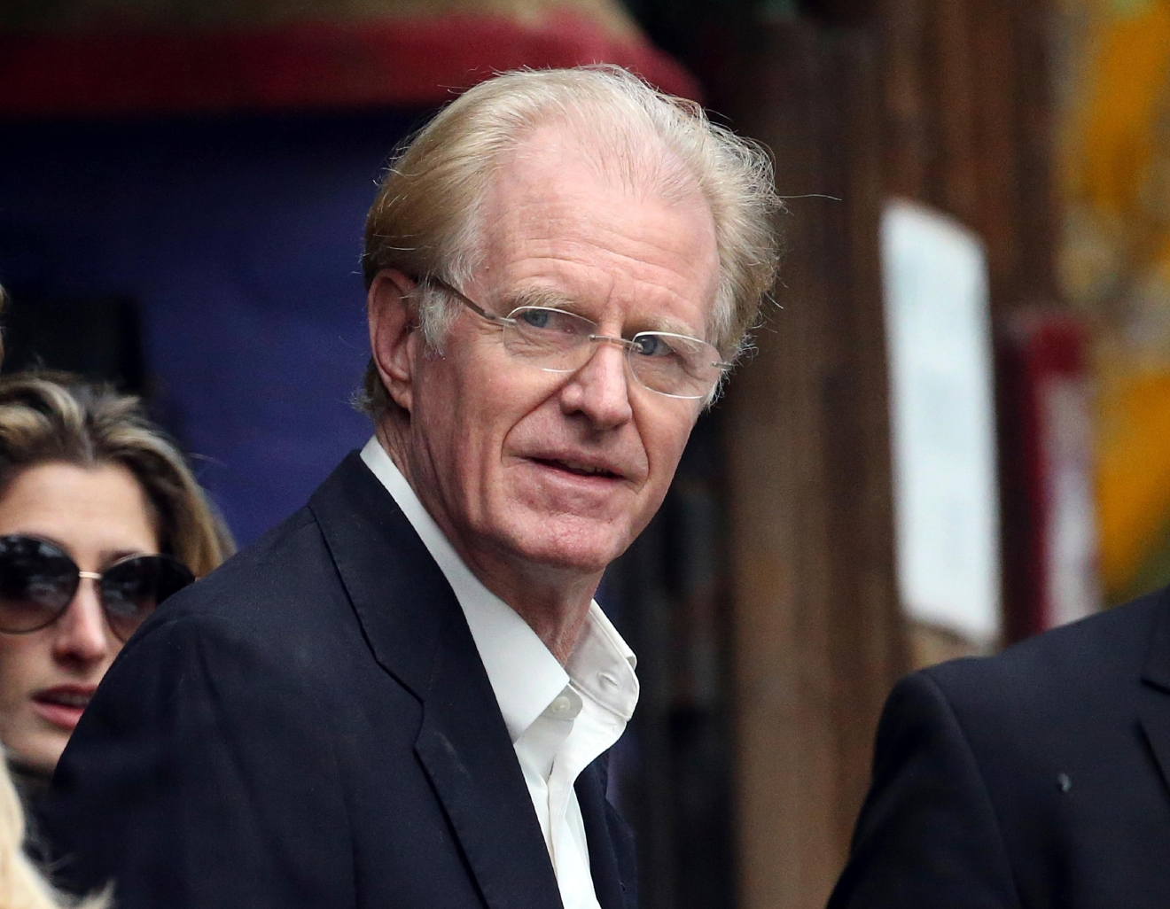 Actor Ed Begley Jr. arrives at a memorial service at the homes of Debbie Reynolds and her daughter Carrie Fisher in Los Angeles Thursday, Jan. 5, 2017. Reynolds died Dec. 28 at the age of 84, a day after her daughter died at the age of 60. (AP Photo/Reed Saxon)