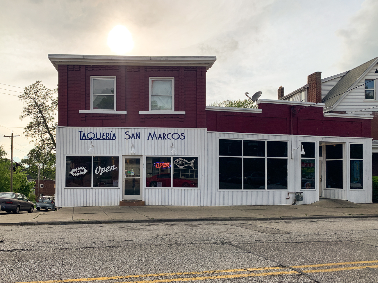 <p>PLACE: Taqueria San Marcos / ADDRESS: 5201 Carthage Avenue (Norwood) / DESCRIPTION: When I walk into Taqueria San Marcos, I feel like I'm stepping back into a simpler time. I love the old diner décor and, of course, a fridge full of Jarritos. I had the al pastor, tripa, and chorizo tacos. All three were delicious and unique in their own right. They have plenty of meat options, from the conventional (chicken or beef) to the meat you can't get at those more well-known places (like beef tongue and beef gut). / Image: Shawn Braley // Published: 5.28.19</p>