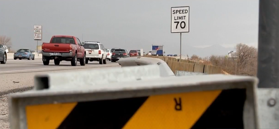 Higher speed limits mean higher crashes? Not so, says BYU study (Photo: KUTV)