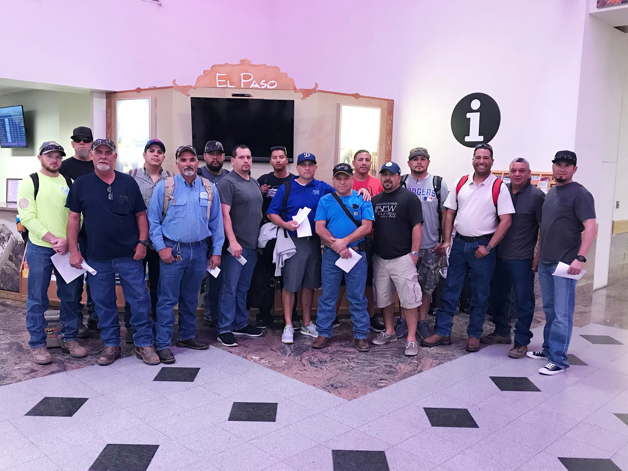 Employees with El Paso Electric head to Florida to help with power restoration efforts after Hurricane Irma left millions without power. Credit: El Paso Electric