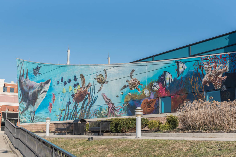 MURAL: Shining Seas / ARTIST: ArtWorks / LOCATION: 1 Aquarium Way (41071) / Image: Mike Menke // Published: 3.22.18