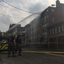 Massive fire tears through Uptown Toledo apartment building