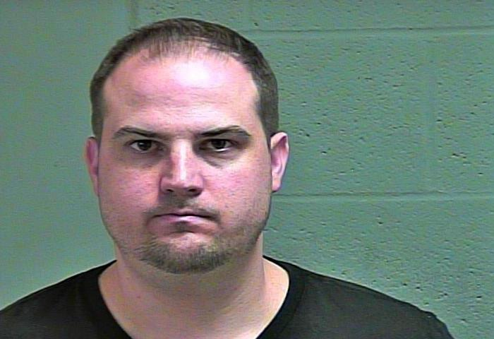 Kyle Spragins, 34, was arrested March 27 in Oklahoma City on complaints of offering to engage in an act of prostitution. (Oklahoma County Jail)
