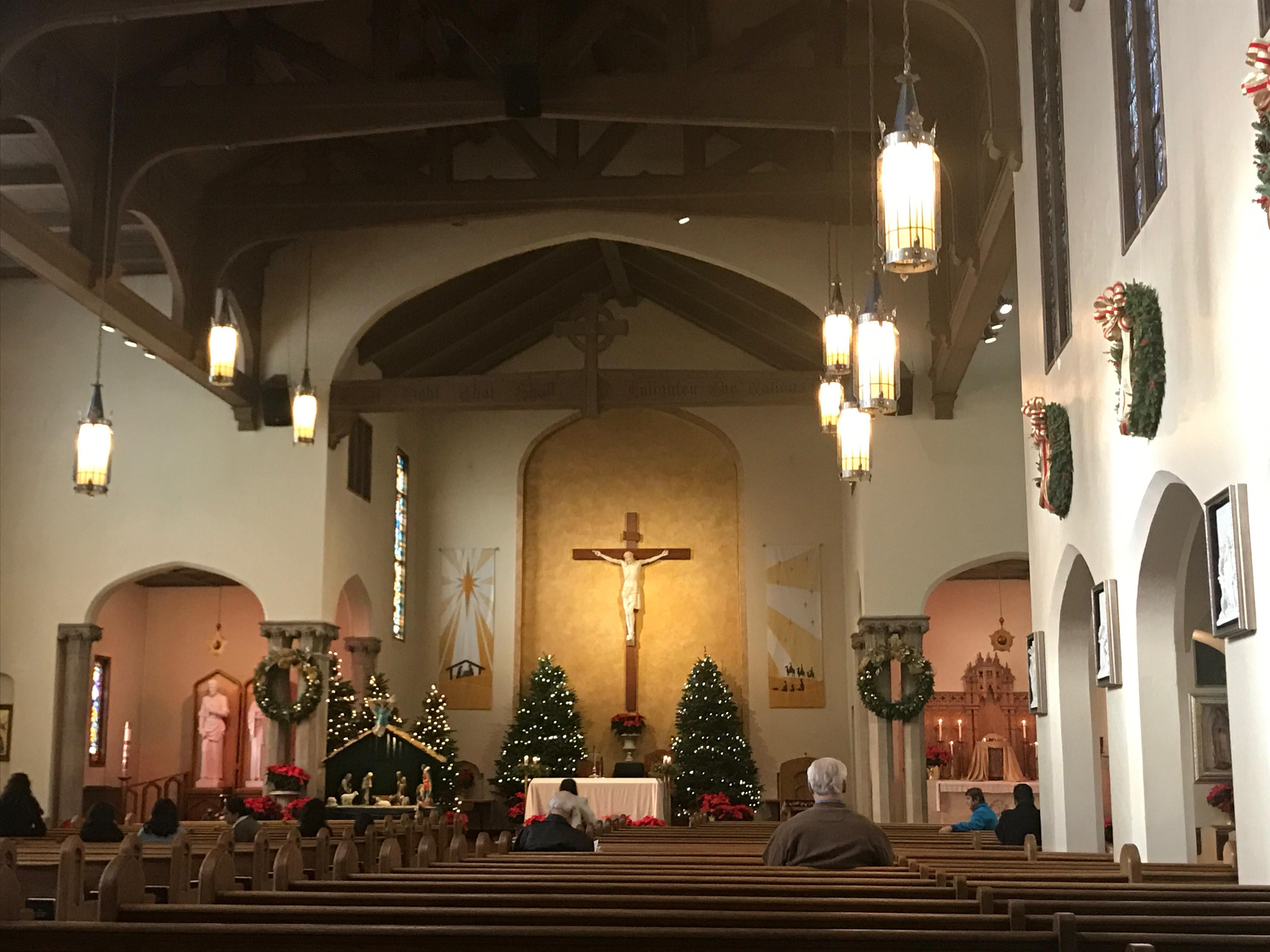 People all over gathered at St. Mary's Catholic Church to celebrate the meaning of Christmas (SBG).